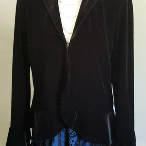 Black Velour Jacket with slight bell sleeves